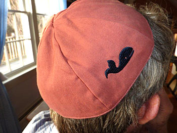 Nantucket Red Whale Kippot