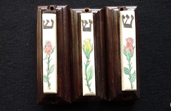 Rose Mezuzah by Michael Vienneau